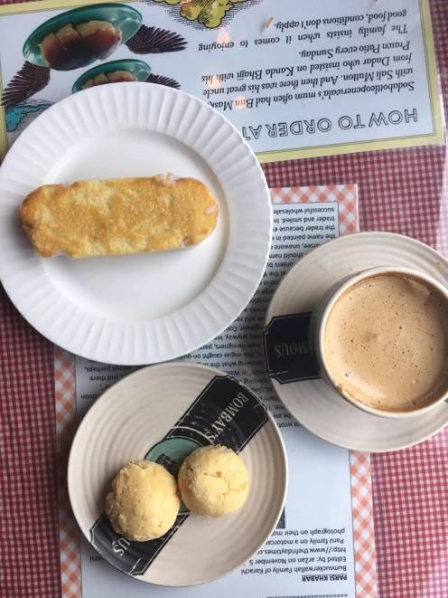 Pheteli coffee, naan khata and mawa cakei